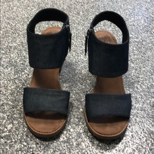 Tom's Denim chunky heeled sandals